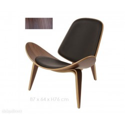 Lounge Chair CH07 de Wegner Nogal