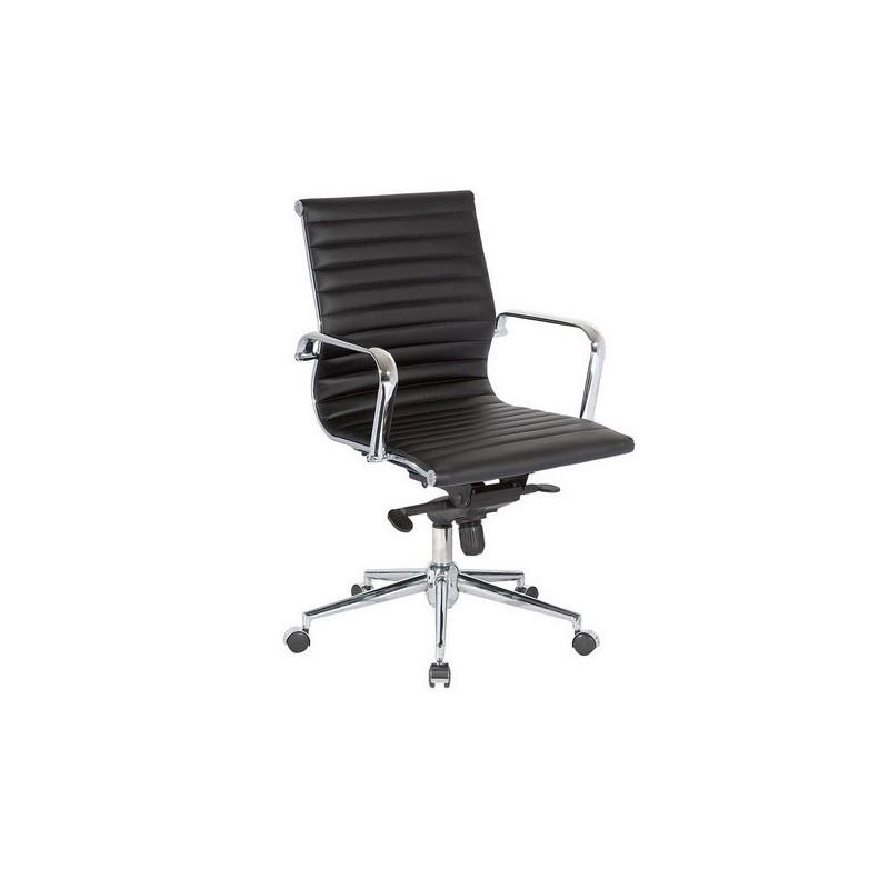 Silla oficina b 117 baja aluminium eames negra for Sillas escritorio oficina