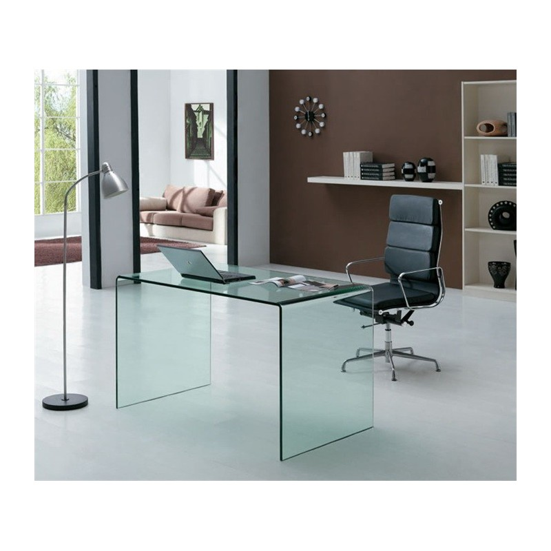 Mesa escritorio cristal concord for Mesa escritorio cristal