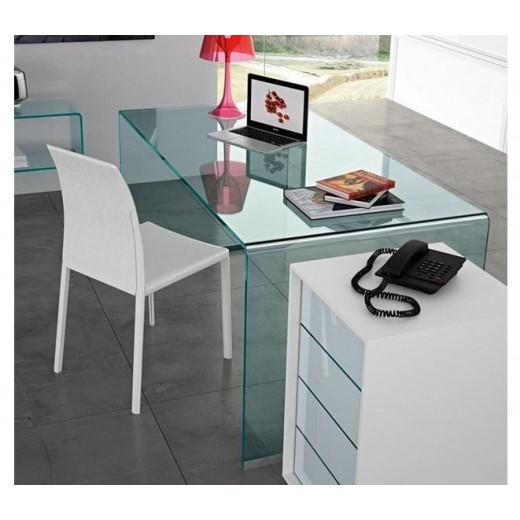 Mesa escritorio cristal concord for Mesa cristal ikea escritorio