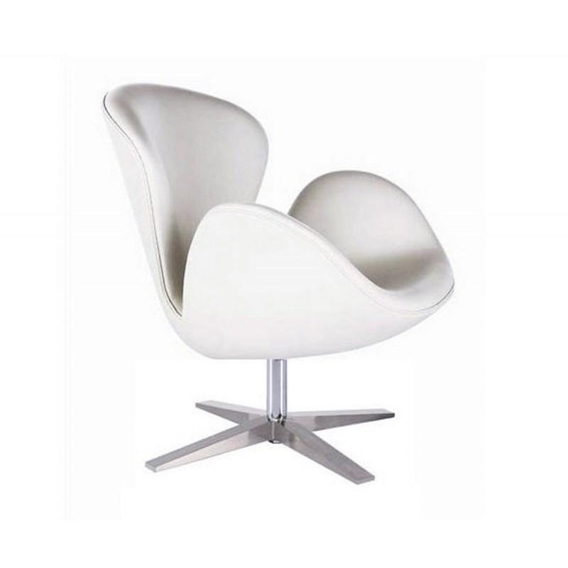 Sill n swan de jacobsen blanco sillon swan barato for Sillon cama blanco