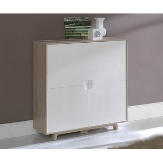 Artesanato Com Pneus ~ Aparador comedor salón diseño en roble y blanco en Dekodirect com