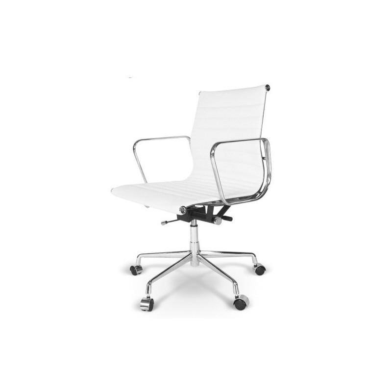 Silla sill n oficina eames direcci n color blanco for Silla escritorio blanca