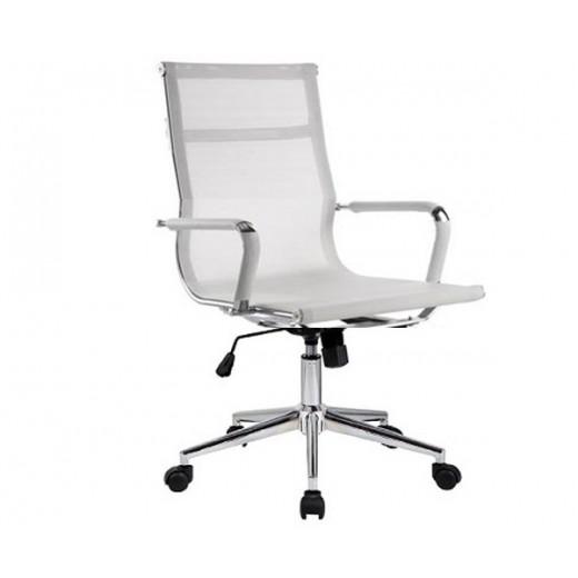 Silla oficina eames aluminium 117b baja malla blanca for Sillas de oficina precios