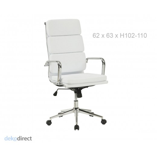 Silla soft 219 eames blanco for Sillas de escritorio blancas