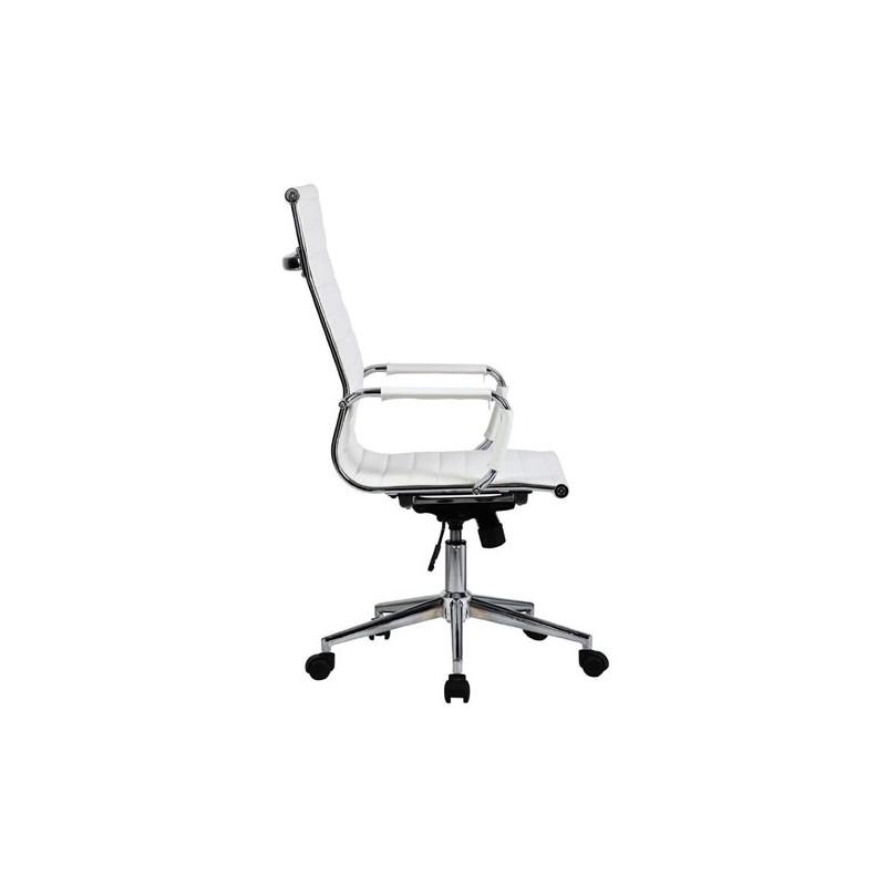 Silla oficina premium 119 alta aluminium eames blanca for Silla oficina alta