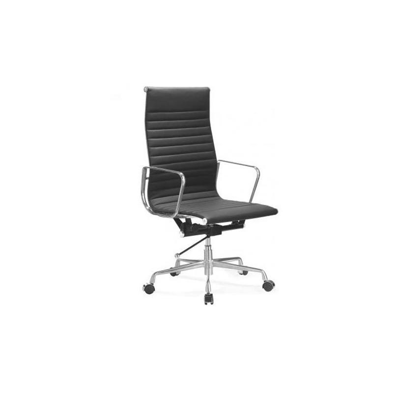 Silla oficina premium 119 alta aluminium eames negra for Silla oficina alta