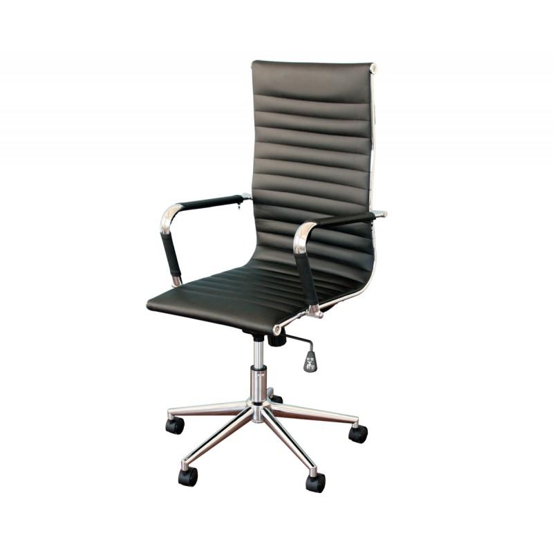 Silla aluminium 119 eames negra for Sillas para comedor de oficina